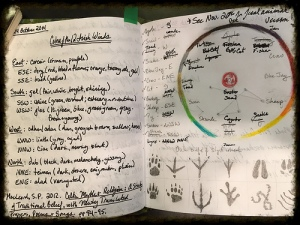Here's what a real live book of Ovate field notes looks like--messy huh?