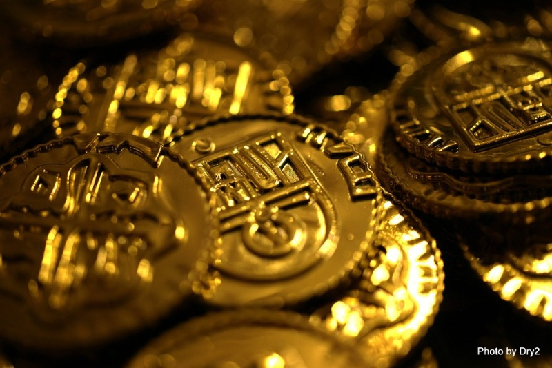 Money Gold Wealth Rich Currency Coins Bitcoin